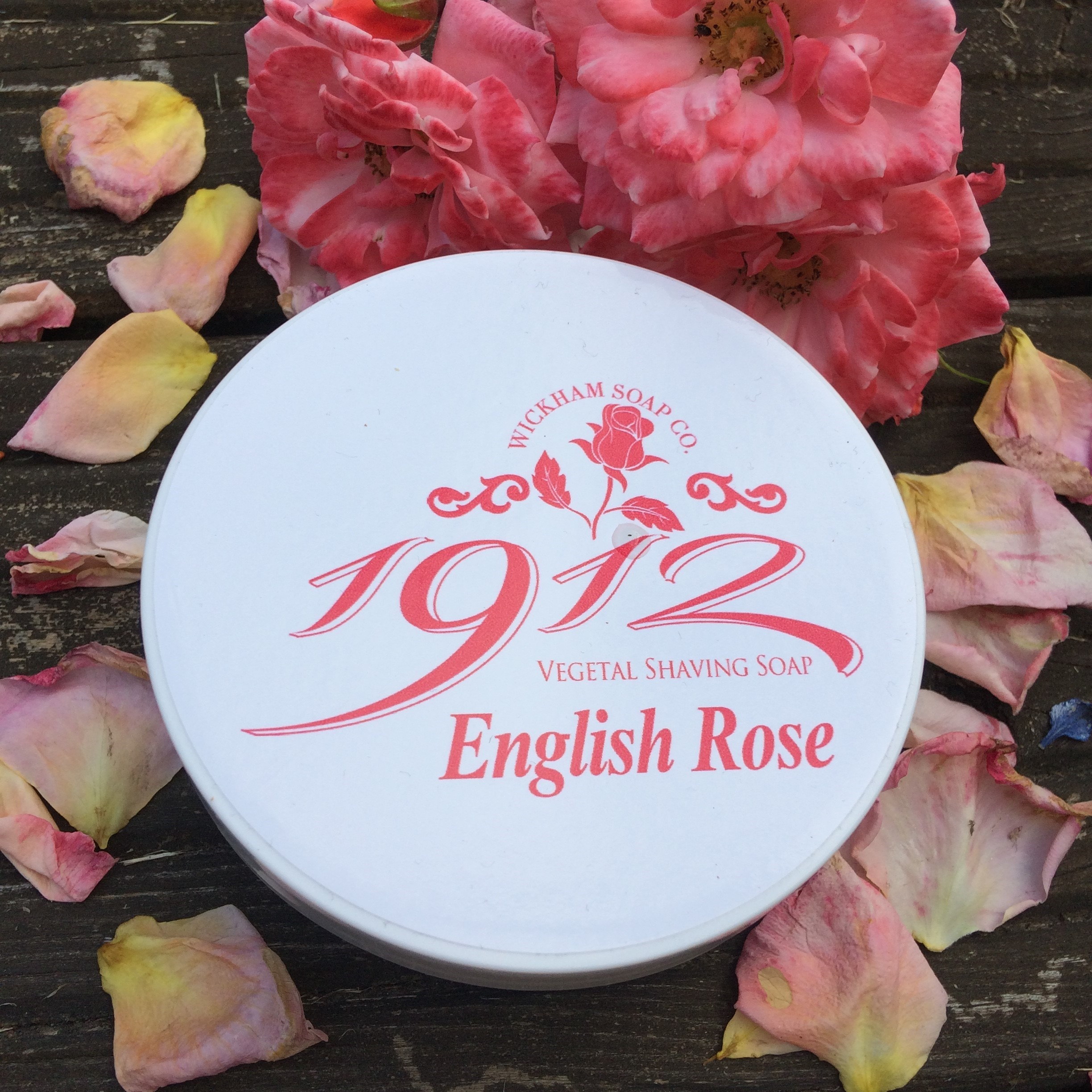 English Rose Shaving Soap Wickham Soap Co | Agent Shave